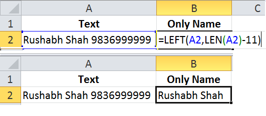 Delete last 10 characters from all cells in Excel