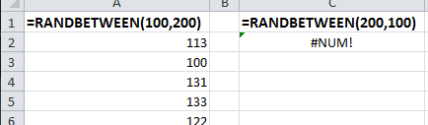 Generate random numbers for analysis or data entry in Excel