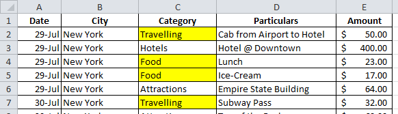 OR function in Conditional formatting