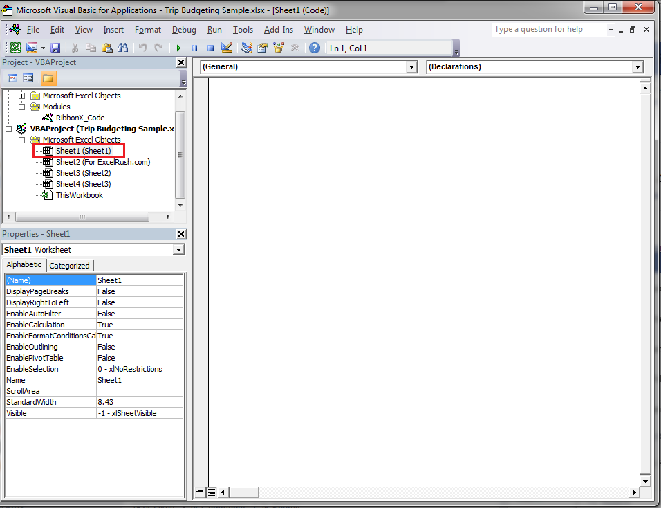 VBE - Visual Basic Editor