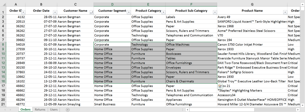 Excel shortcut to Apply All Borders