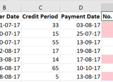 Highlight overdue items using Conditional Formatting