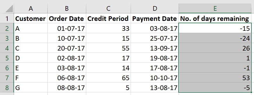 Select column without header