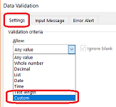 Allow only 10 digit numeric mobile number in Excel using Custom Data validation