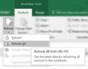Refresh Pivot Tables
